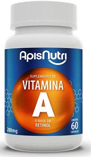 Vitamina A 280mg 60 cápsulas à Base de Retinol Apisnutri