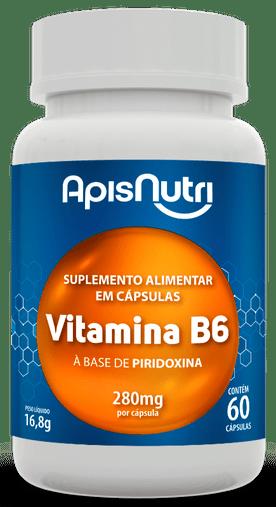 Vitamina B6 280mg 60 cápsulas à base de Piridoxina Apisnutri