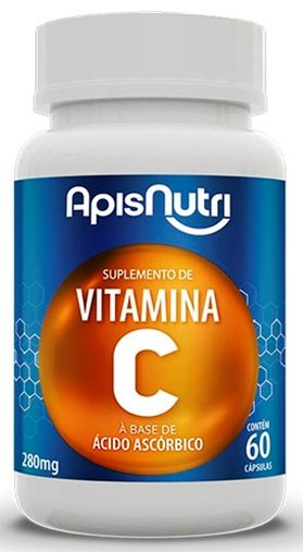 Vitamina C 280mg à Base de Ácido Ascórbico 60 cápsulas Apsinutri