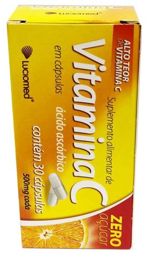 Vitamina C 500mg 30 cápsulas Luciomed