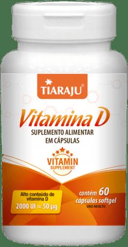 Vitamina D 2000UI - 60 Cápsulas Softgel Tiaraju