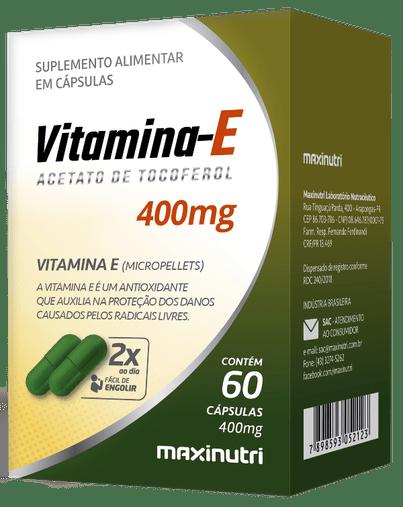 Vitamina E Acetato de Tocoferol 400mg 60 cápsulas Maxinutri