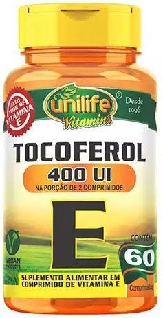 Vitamina E Tocoferol 60 comprimidos 400UI - Unilife