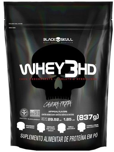 Whey 3HD Proteína concentrada isolada Baunilha 837g Refil
